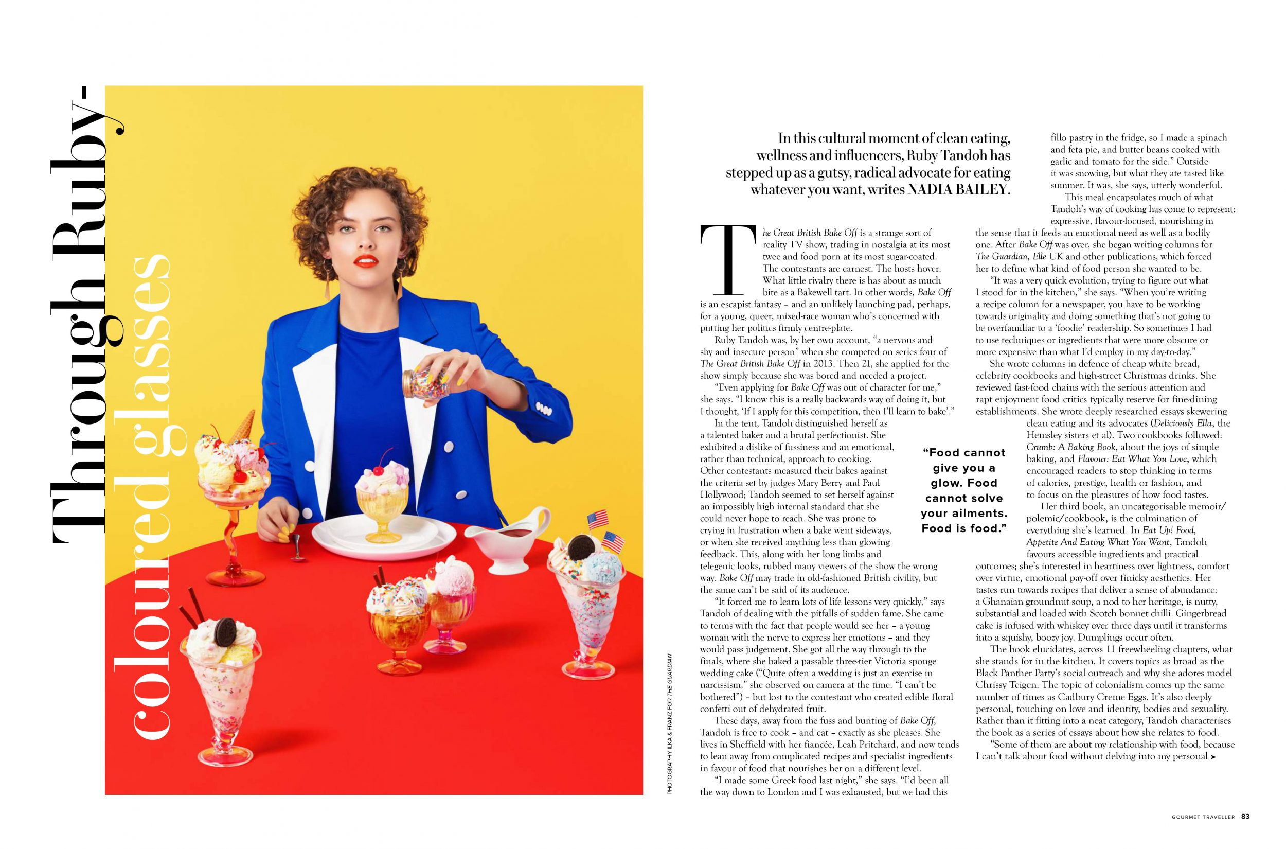 Ruby Tandoh interview in Australian Gourmet Traveller by Nadia Bailey